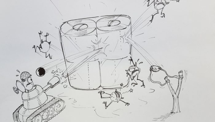 Sketch artist drawing of what consumers want from their toilet paper packaging in Brazil