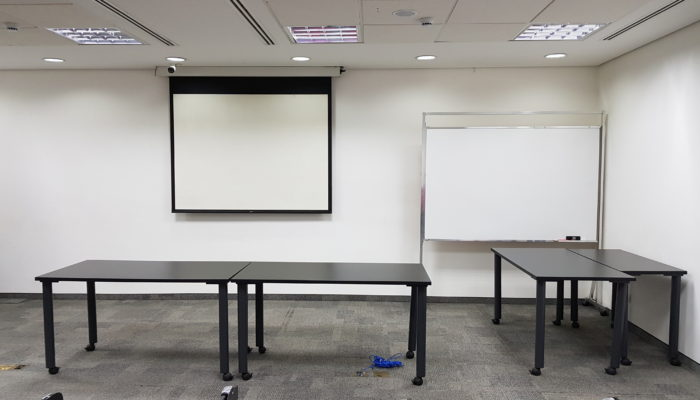 Screening area for new commercials / advertisements made to attract the Brazilian consumer